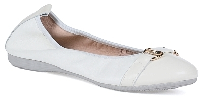 Tina - Nappa leather / Patent leather  White