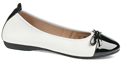 Elisa - Nappa leather/ Patent leather  White/Black
