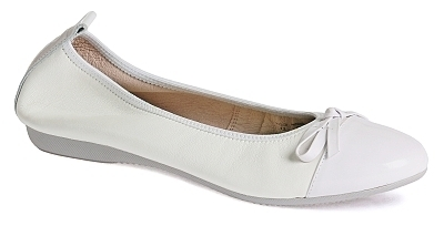 Elisa - Nappa leather / Patent leather  White