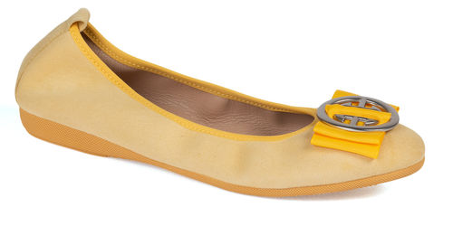 Linda - Suede Yellow
