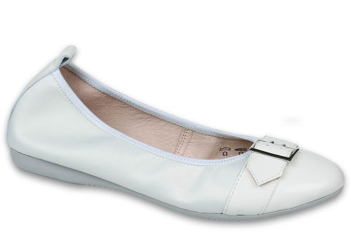 Inessa - silk coating / Patent leather  White
