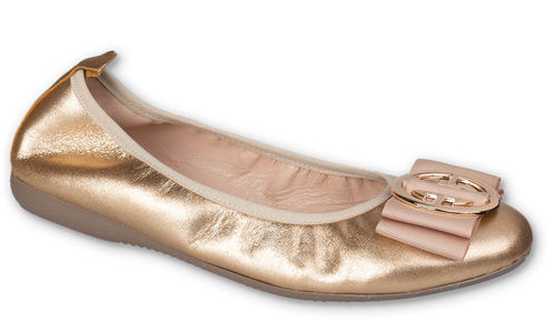 Linda - Metallic Leder Gold