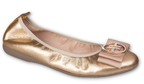 Louisa - Metallic Leder Gold